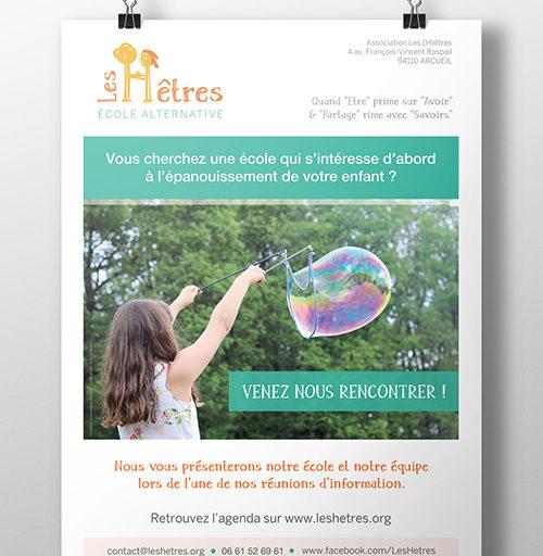 creation affiche ecole association
