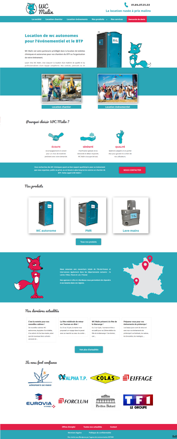 creation de site web internet loueur agence communication
