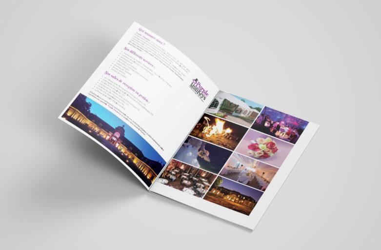 Support de communication print pour une agence événementielle