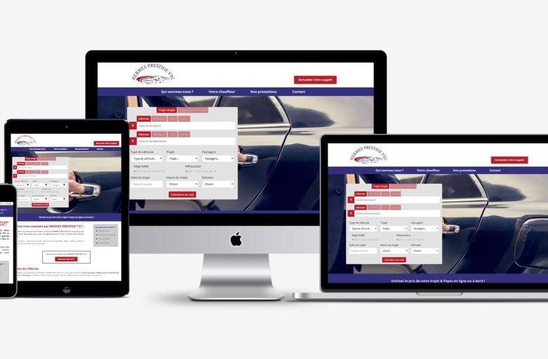 Création d'un site web pour un VTC