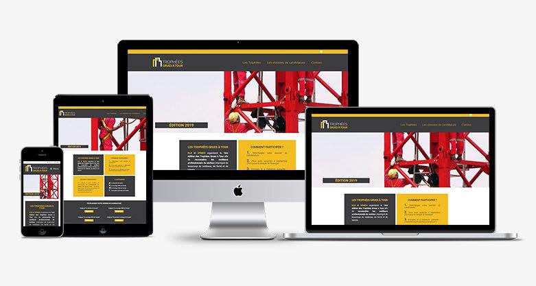 Création d'un site web pour les Trophées des Grues à Tour